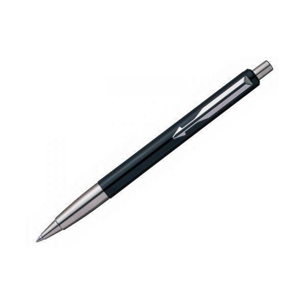 Ручка шариковая VECTOR Black, черный корпус с деталями из нержавеющей стали в коробочке